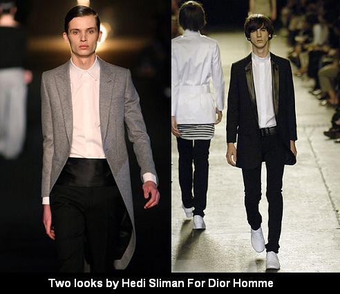 Two looks by Hedi Slimane